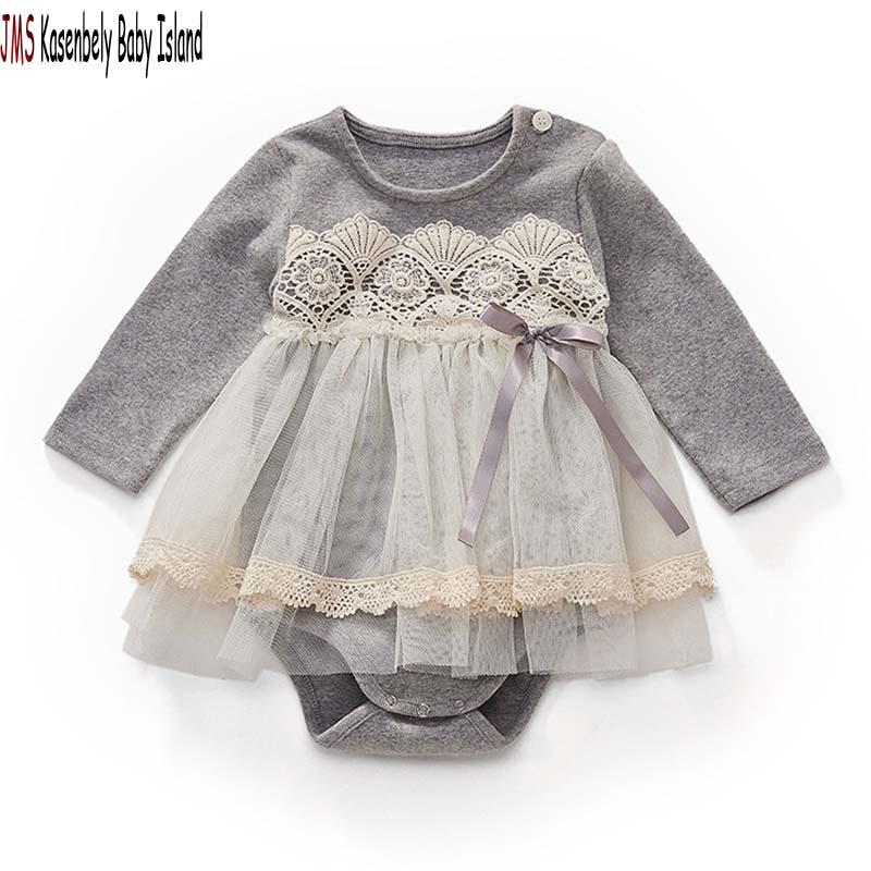 JMS Kasenbely 아기 소녀 귀여운 rompers O - 목 유아 - 아기 의류