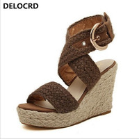 Sandals Pink Palm Womens Summer Compilation Flats Wedges Sandals Shoe Flower Applique Dinner High Heels Wedge