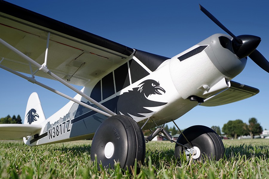 FMS RC Airplane 1700MM 1.7M PA-18 J3 Piper Super Cub Trainer Beginner 4S 5CH PNP Model Plane Aircraft PA18 J-3 (Floats optional)