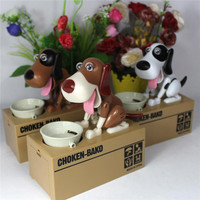 Zooyoo Plastic Electronic Dog Piggy Bank Money Bank Box Automatic Stole Coin Save Money Dog For