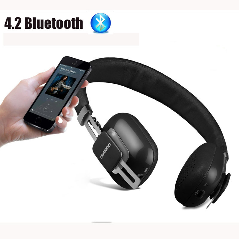 Noise Cancelling Bluetooth Headphones For Phone iPhone Xiaomi Mi Stereo 4.2 Wireless Big Earphone Handsfree Headset Sport Earpod noise cancelling mini bluetooth earphone for phone xiomi iphone 6 7 6s headphones wireless stereo headset 4 1 earpiece for girls