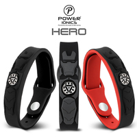 Power Ionics NEW HERO IRONMAN 3000ions/cc 4IN1 Tourmaline Titanium Germanium F.I.R Sports Bracelet Wristband