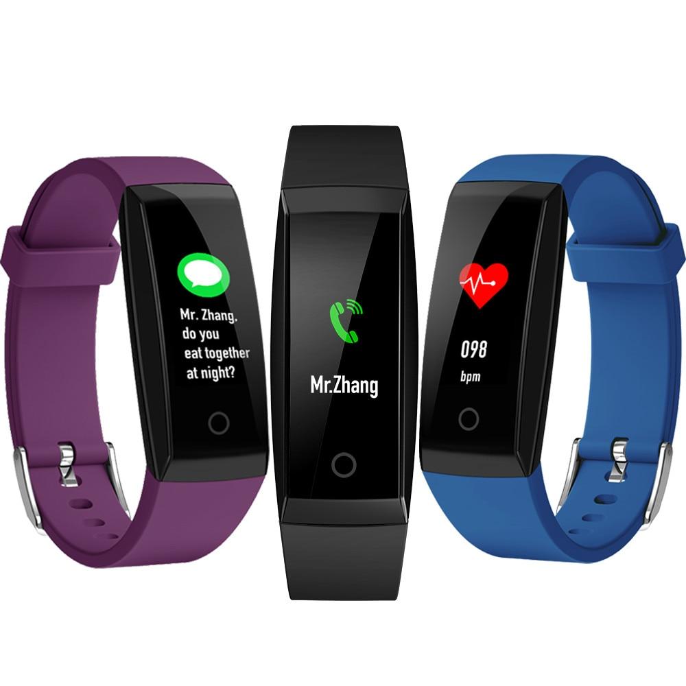 W8 Smart Wristband IP67 Waterproof Smart Bracelet 2018 Heart rate Bracelet Fitness tracker watchband for Android IOS PK mi band3