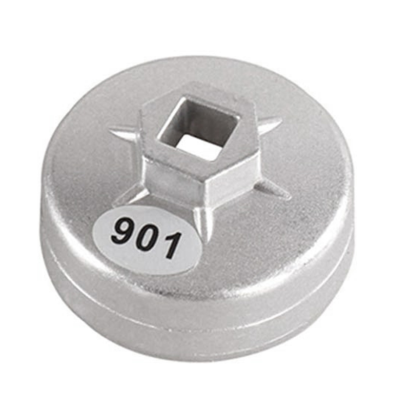 901 14 Flutes Cap Oil Filter Wrench 1/2 inch Square Drive Oil Filter Tools Filter Socket Wrench Spanner Hand Tool