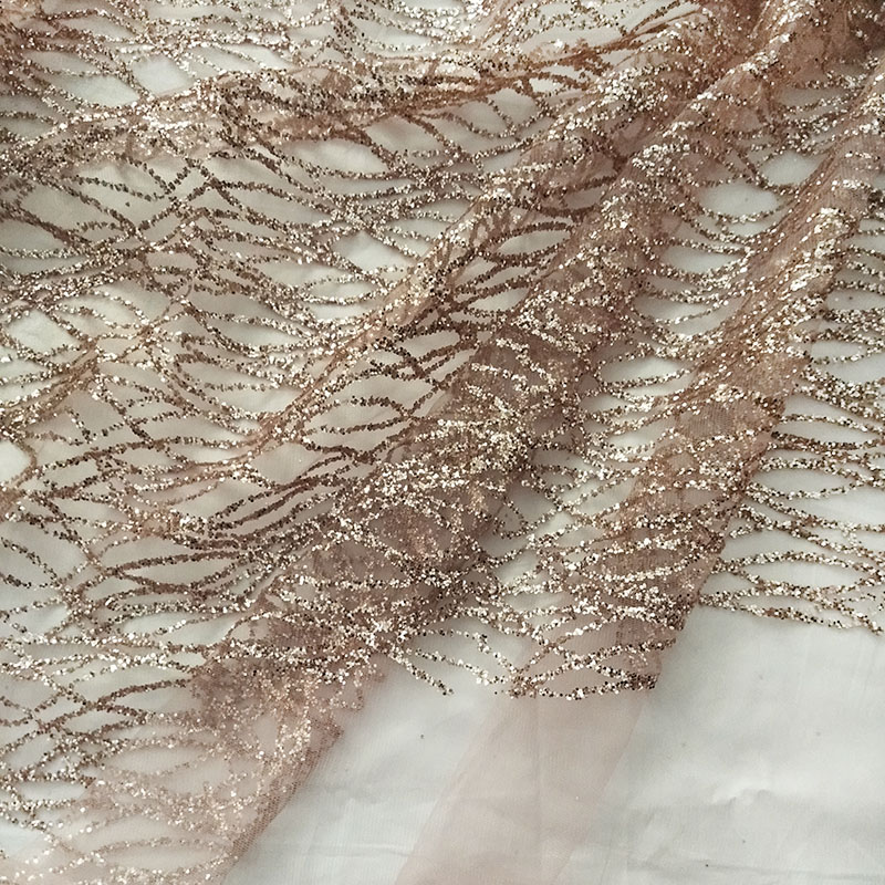 360 cm french art curve lace sequins net fabric champagne gold shiny party  dress mesh fabric sewing diy accessories-in Fabric from Home   Garden on ... 49c6b8d44657