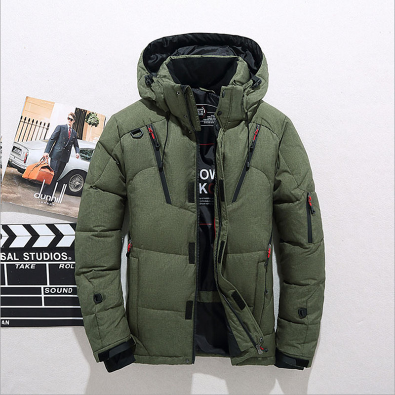 2018 Winter Duck   Down   Jacket Men New Fashion Fur Collar Jacket Men Thick Warm Mens White Duck   Down     Coat   Jaqueta Masculina