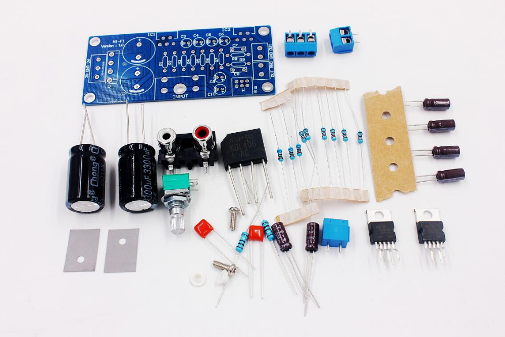 diy kits tda2030 power amplifier board 2 0 stereo audio amplifier ocl 18wx2 or btl 36wx1 in. Black Bedroom Furniture Sets. Home Design Ideas