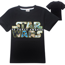New 2016 Cartoon Baby Boys T Shirts Star Wars Children Clothing Boys T-Shirts Kids Clothes Summer Tops Teen Clothes Boys Tees