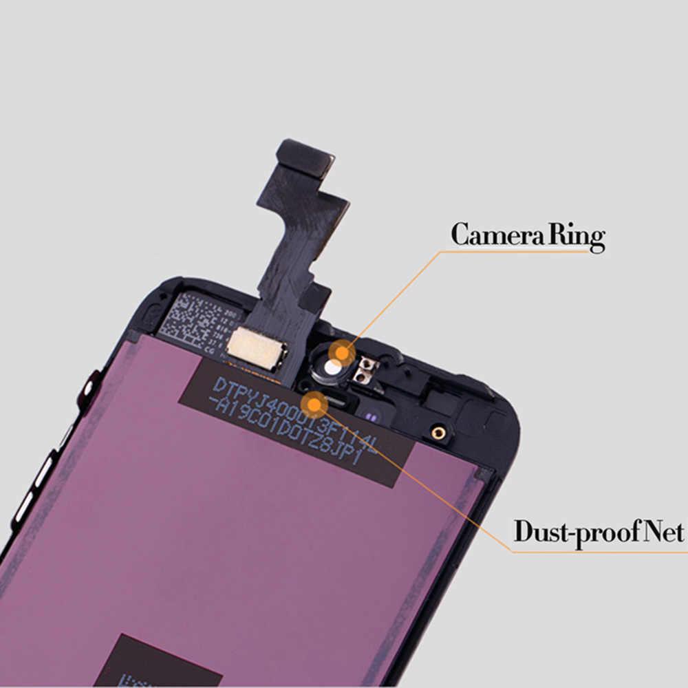 أسود/أبيض الجمعية شاشة الكريستال السائل التحويل الرقمي لفون 6s AAA جودة LCD تعمل باللمس ل فون 6 7 5s لا الميت بكسل مع هدايا