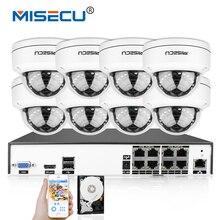 MISECU 4K H.265/H.264 IEE802.3af 48V PoE CCTV System 8CH HDMI IR Vandalproof 4.0MP Metal Camera Plug-Play Motion Night Security
