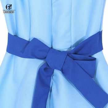 ROLECOS Wendy Darling Dress Peter Pan Cosplay Costumes Girl Blue Dress Women Long Costume Halloween Party Rachel Cosplay