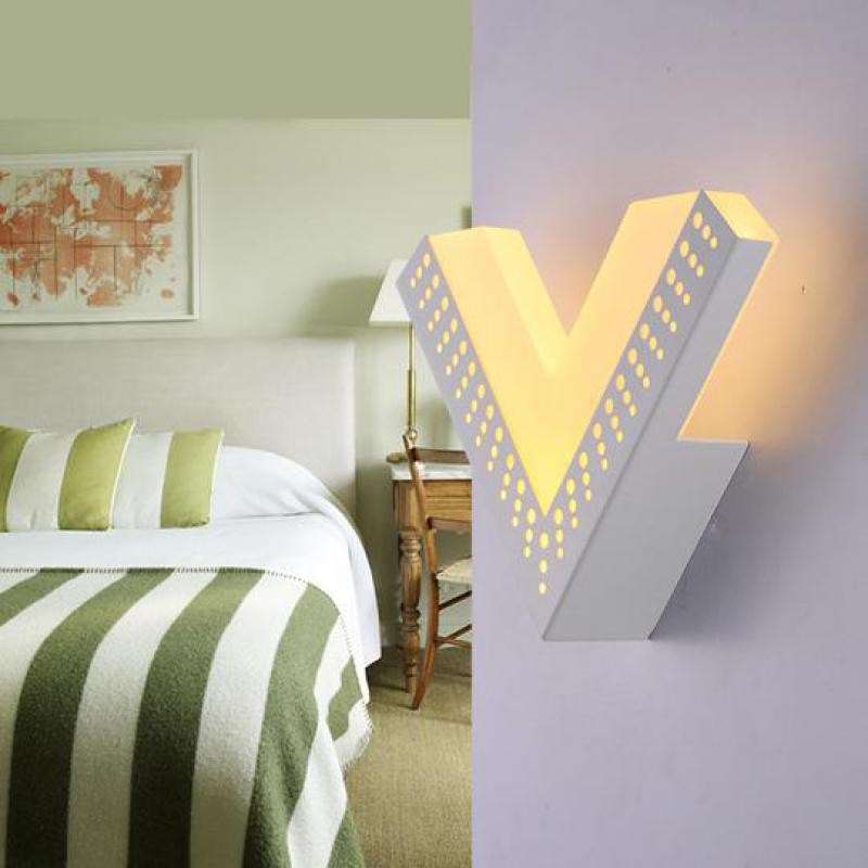 V shape 9W led wall sconce led luminaria Creative Modern arcryl led indoor Wall Lamp Staircase Aisle Lamp Bedside Bedroom light staircase light crystal wall lamp modern bedroom bedside aisle led lights hotel wall sconce decorative led crystal light sconces