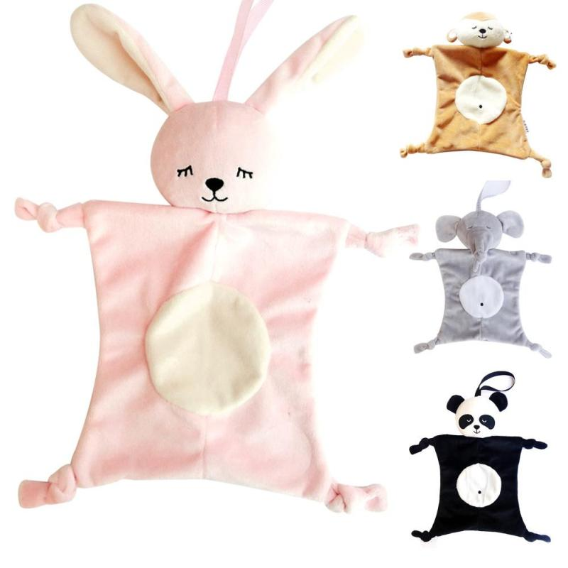 Soft Plush baby toys Rabbit elephant Stuffed Animal Toy Appease baby bed appease towel grasping rattles for Newborn Gift B3