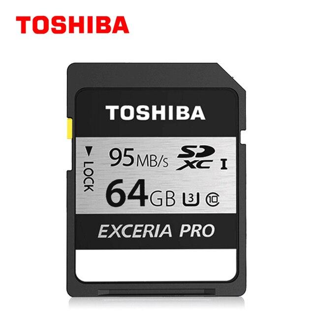 Оригинал Toshiba 95 МБ/с. 16 ГБ 32 ГБ Sdhc UHS U3 Класс 10 64 ГБ SDXC Карты Памяти Flash Для Canon Nikon ЗЕРКАЛЬНЫЕ ФОТОКАМЕРЫ Видеокамеры Д. в.