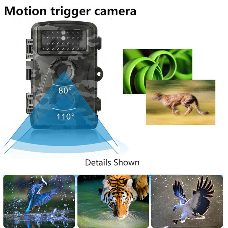 12MP 720P HD Waterproof Hunting Camera Wildlife Trail Camera Infrared Night Vision Scouting Cam Animal Observation Recorder насос unipump акваробот jet 100 l г а 2л 45190