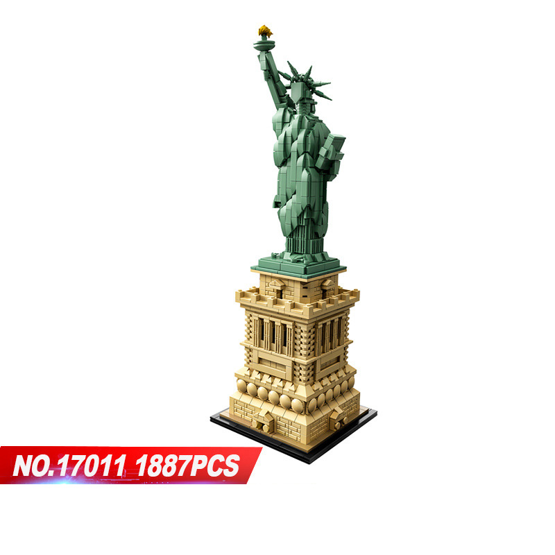 Hot world famous architecture Statue of Liberty New york USA building block assemble model bricks 42042 toys collection for gift цены онлайн