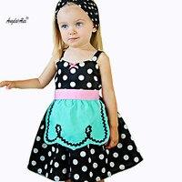 Angela Alex Girls Hot Sale Girls Dress 2018 Summer Brand Princess Dress Girls Party Sleeveless Dress