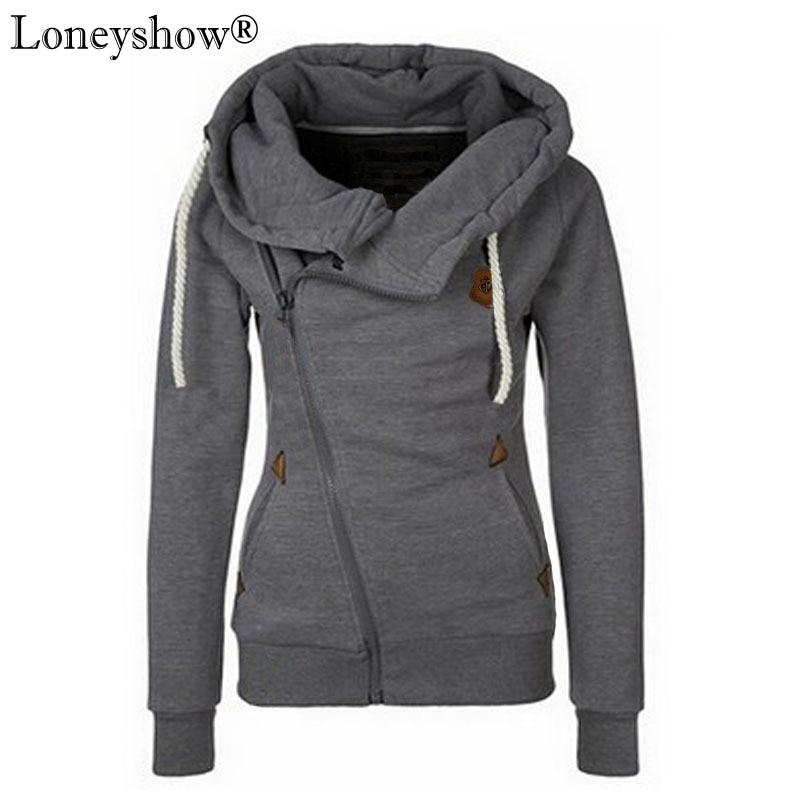 Plus Size 5XL Spring 2017 Autumn Winter Women Casual Solid Hoodies Unisex Lapel Hooded New Sweatshirt