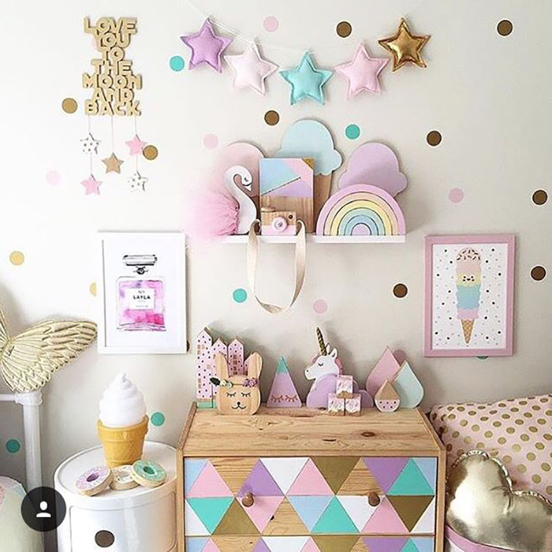 Polka Dots Wall Stickers For Kids Room Baby Nursery Stickers Wall Sticker Children Wall Decals Easy Home Decoration Wallpaper
