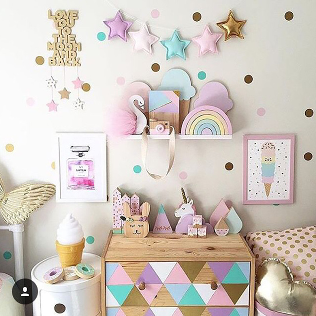 1f95a0cf2ca9 Polka Dots Wall Stickers For Kids Room Baby Nursery Stickers Wall Sticker  Children Wall Decals Easy