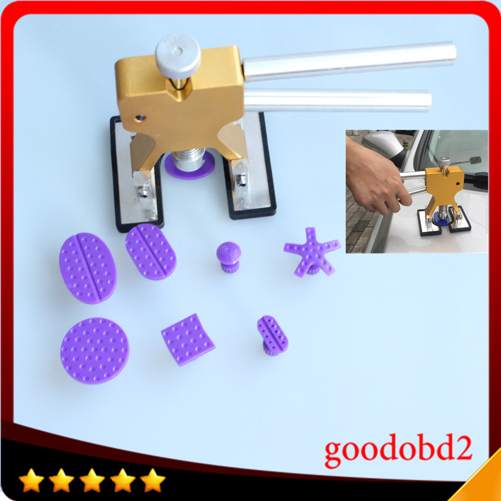 Car PDR Dent Removal tool with Rubber hammer with Glue Tabs 8x Paintless Dent Remover Tools of the dents for Benz Audi Toyato