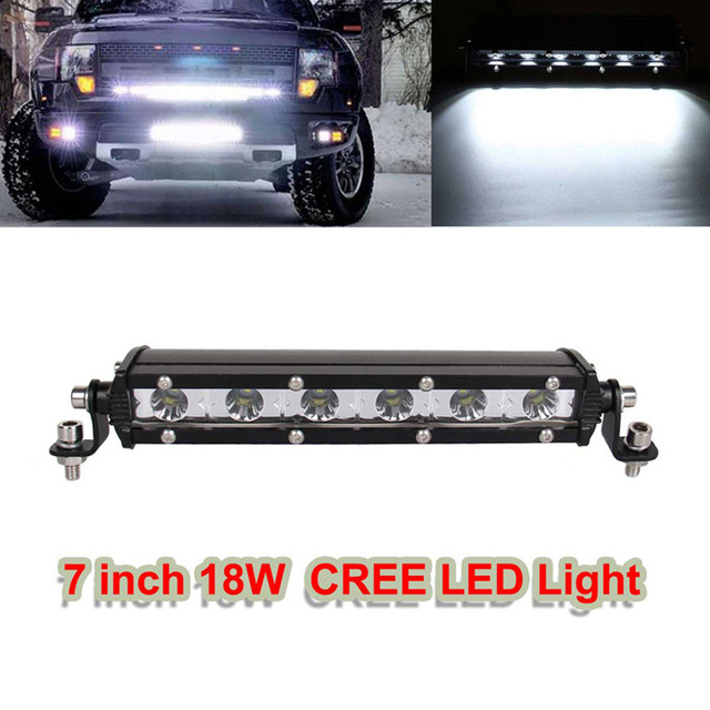 2pc 18w 7 offroad fog led light bar car truck head spot light 2pc 18w 7 offroad fog led light bar car truck head spot light driving lamp aloadofball Gallery