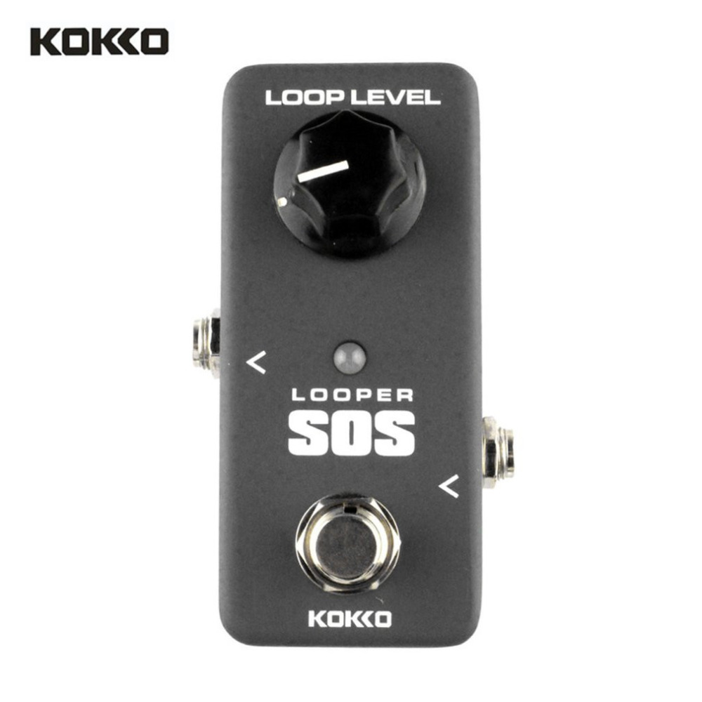 Kokko Black Mini Electric Guitar Bass Effect Pedal Looper Recording Support 5 Minutes Record 2.0 Usb Uploads Downloads Function Guitar Parts & Accessories Stringed Instruments