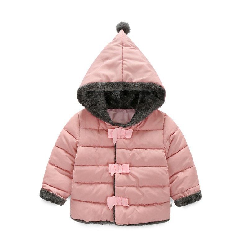 90 120cm Pointy Hat Baby Girls Winter Jackets And Coats Hooded Red ...
