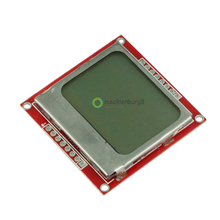 LCD Modul Display Monitor Weiß Hintergrundbeleuchtung Adapter PCB 84*48 84x48 5110 Bildschirm Für Arduino Controller 3,3 V Dot Matrix Digitale