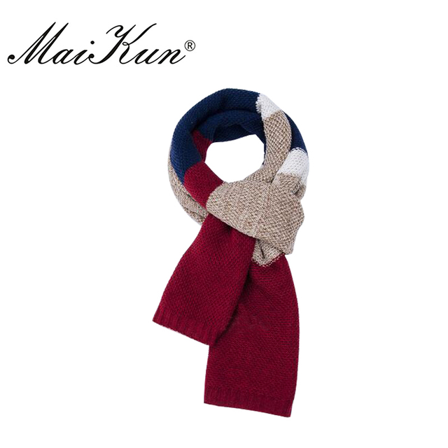 Maikun bufanda de lana para los hombres clásico diseño Plaid robó para hombre de negocios de alta calidad Bufandas en invierno