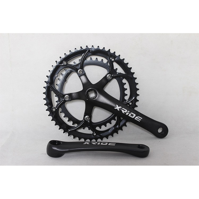 Road Bike Cranks Aluminum Alloy 39T-53T Bike Bicycle Crankset for Road Folding Bike Cycling Cranks Sets Chainring Bike Parts