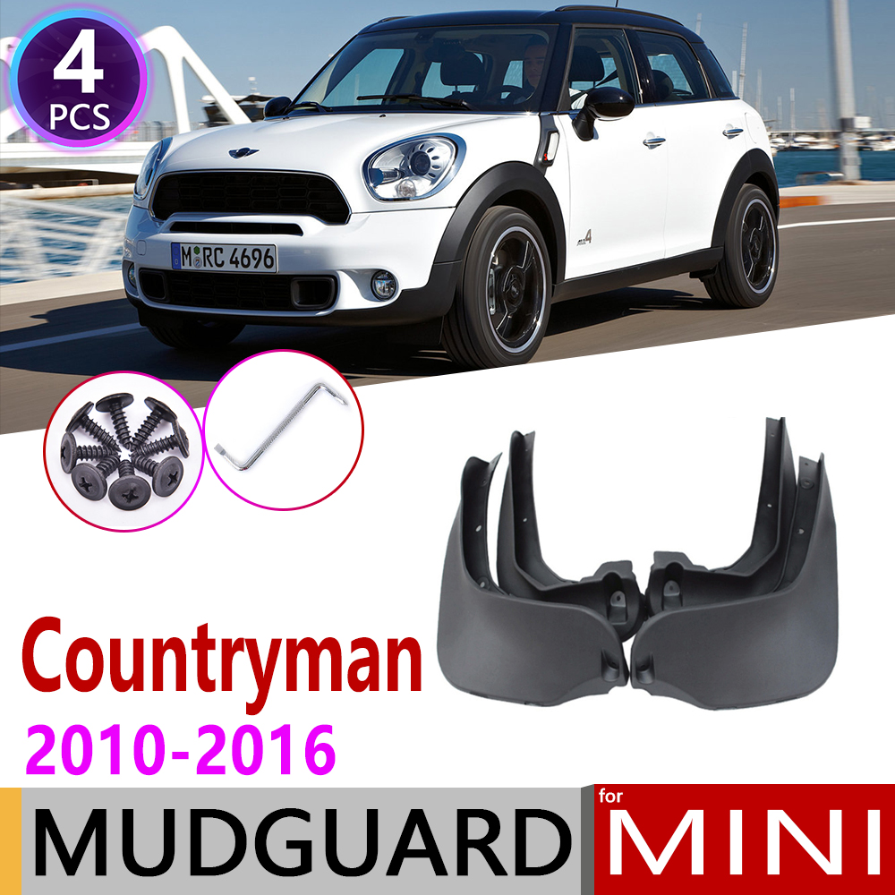 Car Mudflap For Mini Countryman R60 2010~2016 Fender Mud Flap Guard Splash Flaps Mudguards Accessories 2011 2012 2013 2014 2015