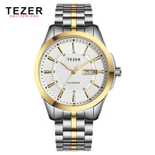 Tezer Top Luxury Brand Mens Watches Water Resistant 30M Full Stainelss Steel Men s Businiess Dress