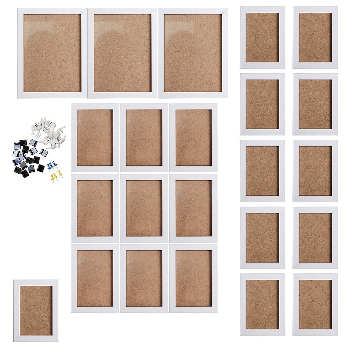 23 Stücke Schwarz/weiß Home Decor Foto Frames Set Wasserdichte Mould-beweis Und Mothproof Acryl Bild Rahmen Rahmen Wohnkultur