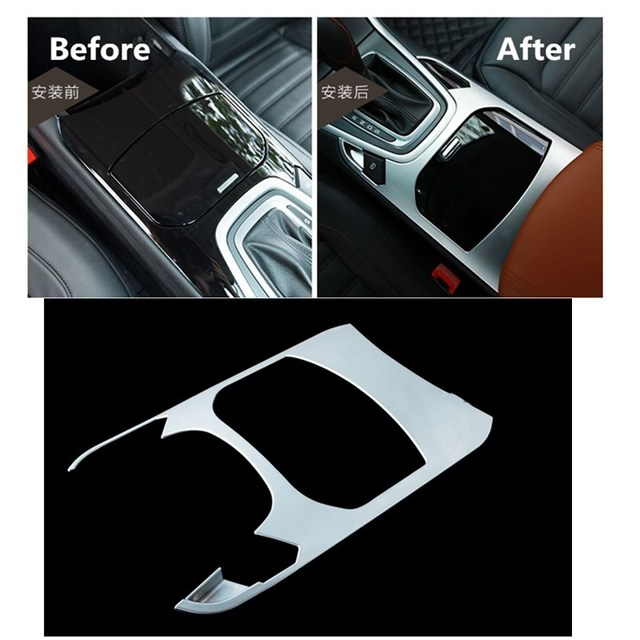 Car Abs Interior Cup Holder Gear Box Styling Accessories For Ford Edge