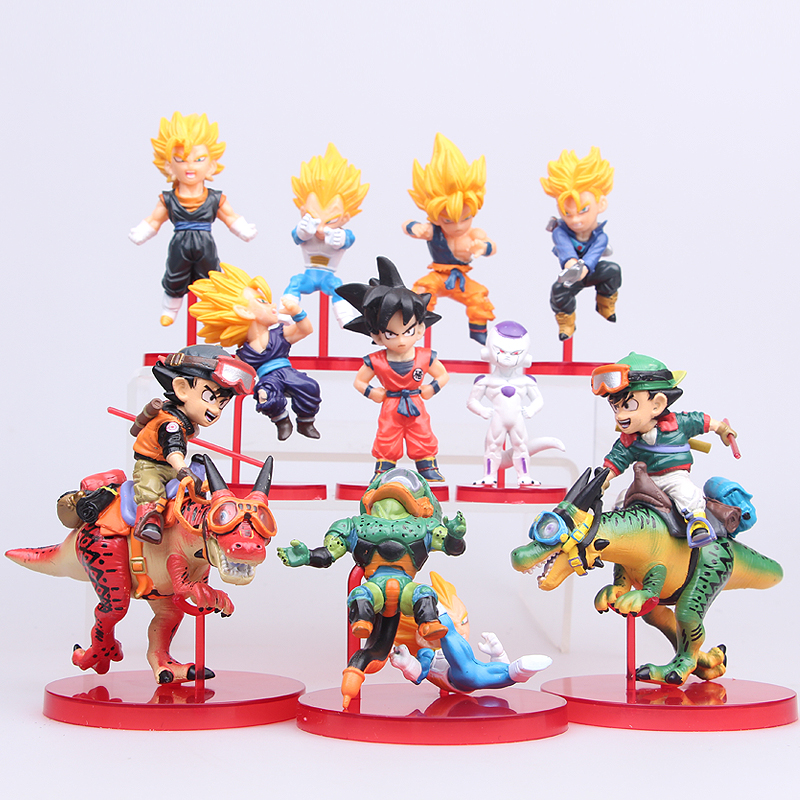 NEW hot 10pcs/set 7-12cm Dragon ball Shenron Super Saiyan Son Goku Trunks action figure toys collection Christmas gift doll new hot 21cm dragon ball super saiyan 3 son goku kakarotto action figure toys doll collection christmas gift with box sy889