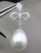 Pearl Pendant, SOLID 14kt WHITE GOLD DIAMOND PENDANT SETTINGS, Pearl Settings, Fashion
