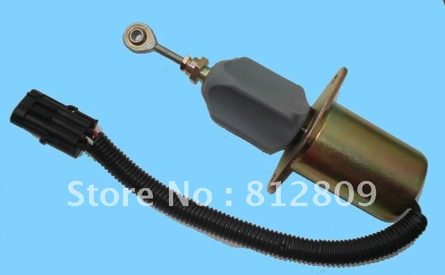 Fuel Shut off Solenoid 3935650 24vdc fuel shut off solenoid valve coil 3964624 fits excavator engine