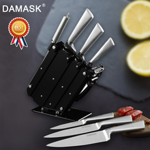Damask Japan Kitchen Knives Set Stainless Steel Knife Fruit Utility Santoku Bread Slicing Chef Meat Cleaver Tools