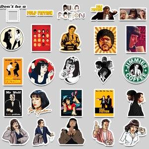 Image 3 - Pegatinas clásicas de película de Pulp Fiction, 50 Uds., pegatinas de grafiti para equipaje, monopatín, teléfono, Laptop, bicicleta, guitarra, álbum de recortes