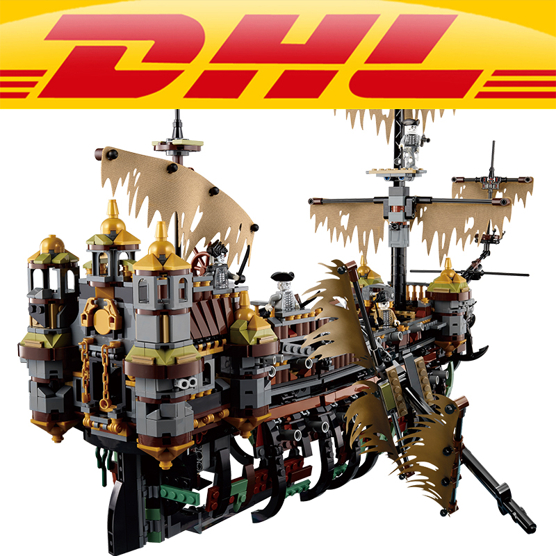 LEPIN 16042 2344PCS Pirate of The Caribbean Captain Jack Slient Mary Set Children Building Blocks Bricks Toys Model Gift 71042 lepin 16042 silent mary building bricks blocks toys for children boys game model ship gift compatible with bela 71042