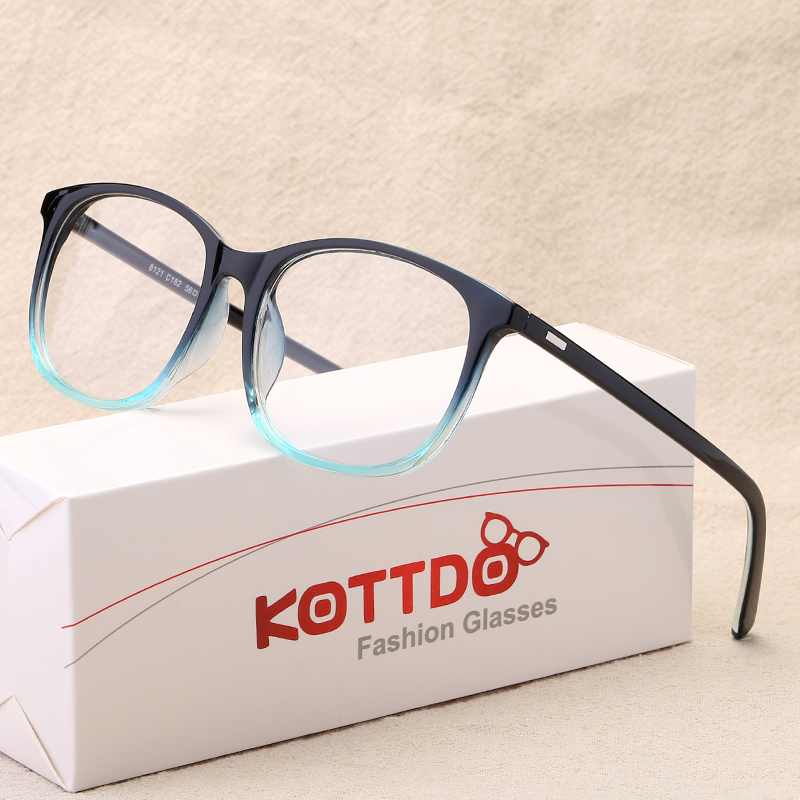 KOTTDO Vintage Optical Eye Glasses Women Frame Myopia Round Plastic Unisex Spectacles Female Eyeglasses oculos de grau Eyewear