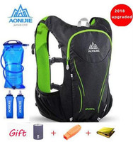 AONIJIE Outdoor Sports Trail Running Backpack 5L Upgraded Marathon Vest Pack Super Light Cycling Hiking Bag Hydration Vest Pack
