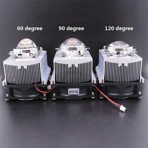 Image 2 - Disipador de calor de aluminio LED, ventilador de refrigeración de 100W + lente de 60 grados 90 grados 120degree44mm + Reflector Brack