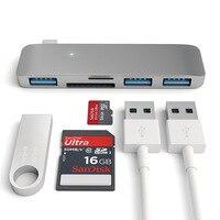 Hurtownie usb c dock thunderbolt 3 combo z USB hub Adapter dongle 3.0 porty, SD slot Micro SD Card dla MacBook Pro 5 w 1