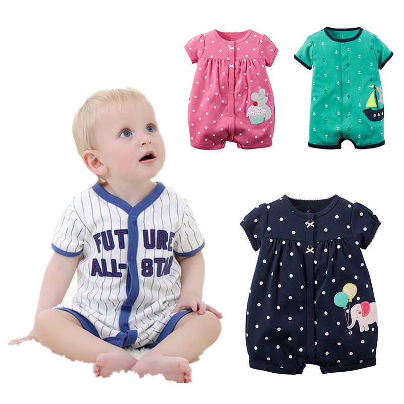 Baby Girls Rompers Summer Short-sleeved Jumpsuit Children Coveralls 100% Cotton Newborn Infant Clothing Set Baby Boys Clothes baby rompers newborn clothes baby clothing set boys girls brand new 100%cotton jumpsuits short sleeve overalls coveralls bebe