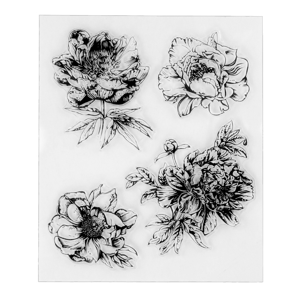 Big Flowers Clear Silicone Rubber Stamp for DIY Scrapbooking/photo Album Decorative Craft Clear Stamp Chapter christmas holiday wishes clear silicone rubber stamp for diy scrapbooking photo album decorative craft clear stamp chapter