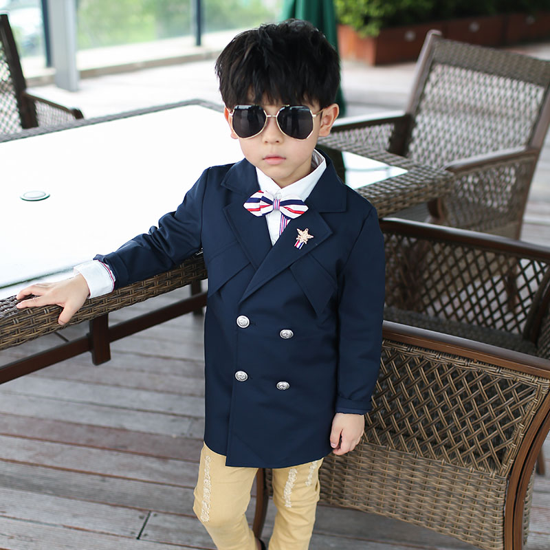 The child's boys' children's leisure suit jacket in double