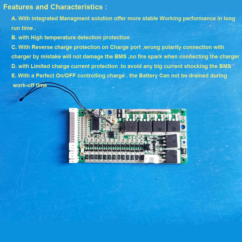 48V Li Ion battery PCB board with 20A constant current and 5V USB output Module for 13S Li ion Battery  of electric bike