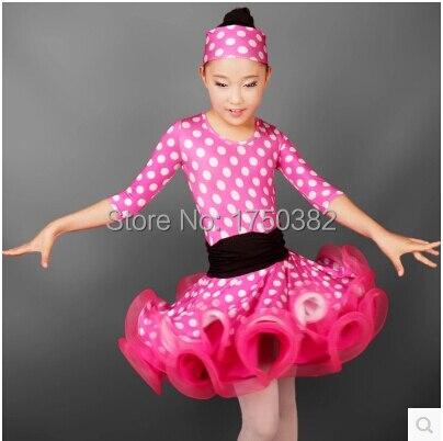 Платье на танец горошки